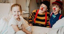 De ziekenhuiskamer van Leanne wordt opeens een onderwaterwereld