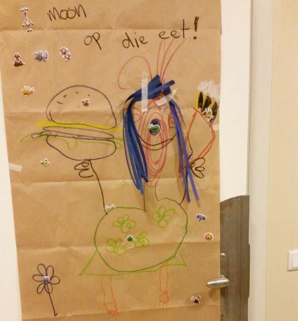 Kees heeft een tekening gemaakt voor CliniClown Bums