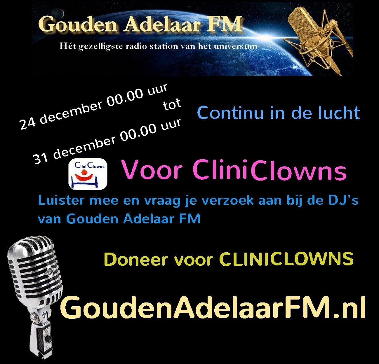 Actie van Gouden Adelaar FM voor CliniClowns