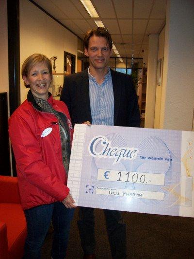 cheque van UCB Pharma