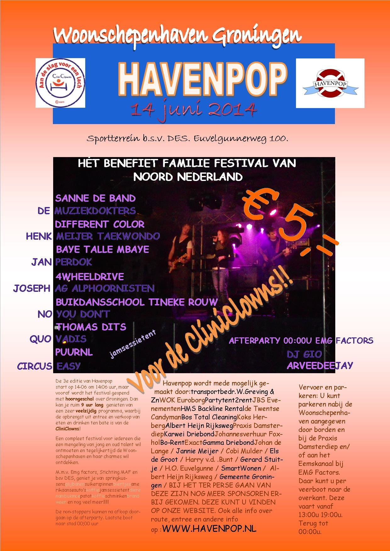 poster Havenpop voor CliniClowns