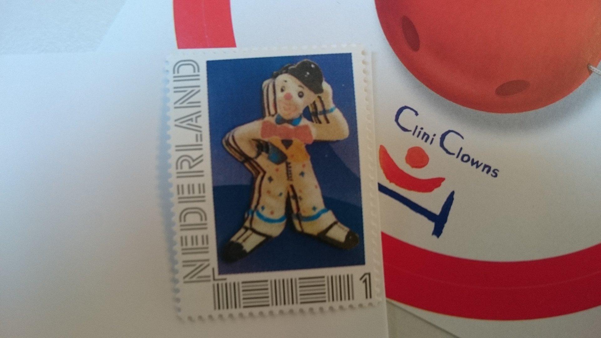 postzegel actie voor cliniclowns